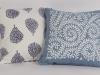 blue canvas cushions