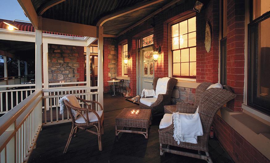 Laurelville Manor veranda