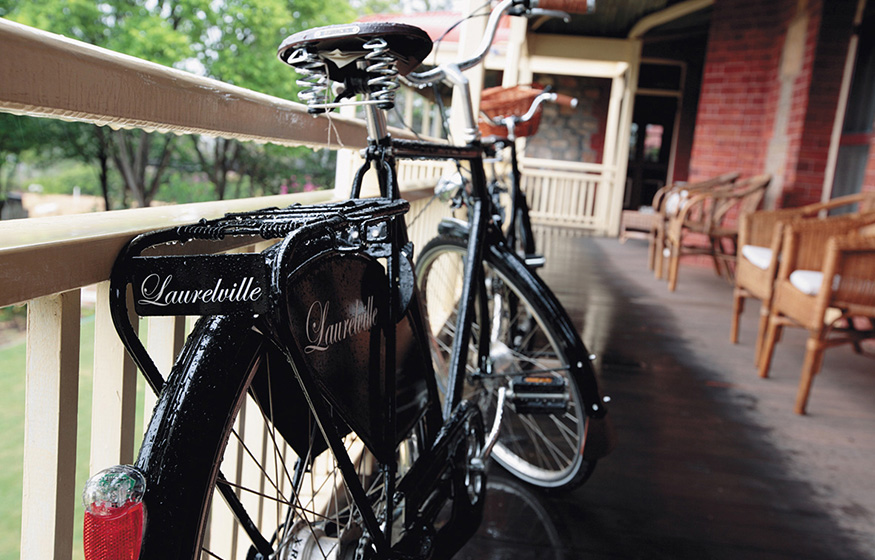 Laurelville Manor veranda bike