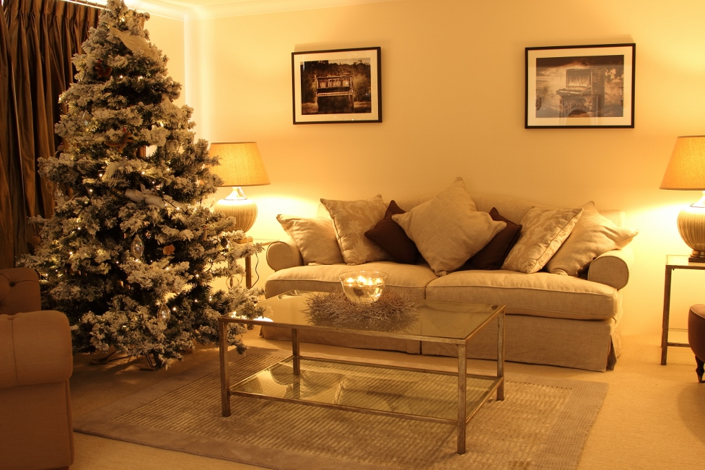 Christmas lounge room