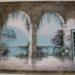 archway, arch, view, tapestry, usa, wall, art, hanging