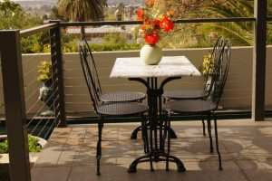 iron, marble, table, chairs, setting, outdoor