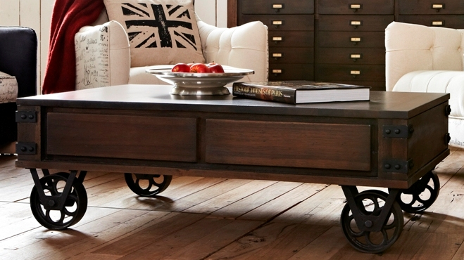 Coffee Table On Wheels Veranda Home Garden
