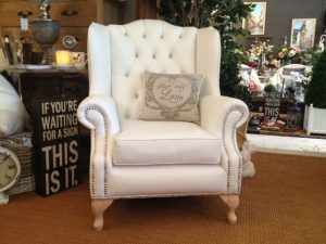 princess, chair, wingback, white, vinyl, swarovski crystals, studding, furniture, perth, claremont