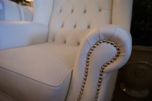 princess, chair, wingback, swarovski, crystal, studding, luxe, white, vinyl, perth, calremont