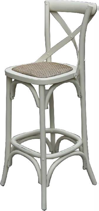 Cross Back Bar Stool In Off White Veranda Home Amp Garden