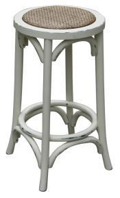 Kitchen stool in off white veranda home garden for Hampton style kitchen stools