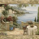 como, lake, italy, terrace, view, waterside, tapestry, wall, art, hanging