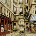 paris, france, french, promenade, tapestry, wall, art, hanging