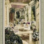 vintage, comfort, chair, veranda, tapestry, usa, wall, art, hanging