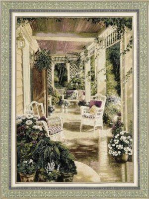 vintage, comfort, chair, veranda, tapestry, usa, wall, art, hanging
