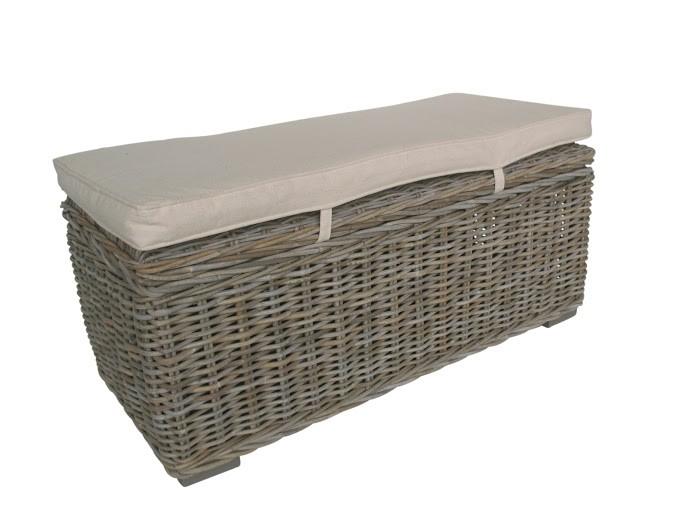 Rattan Bench Seat With Storage Veranda Home Garden