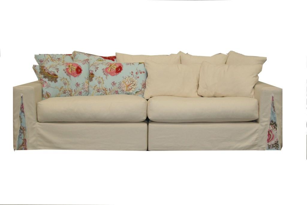 larsio 4 seater slip cover sofa veranda home garden