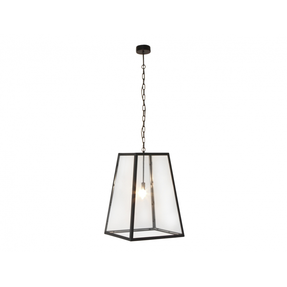 Black Iron Square Pendant Light Veranda Home Garden